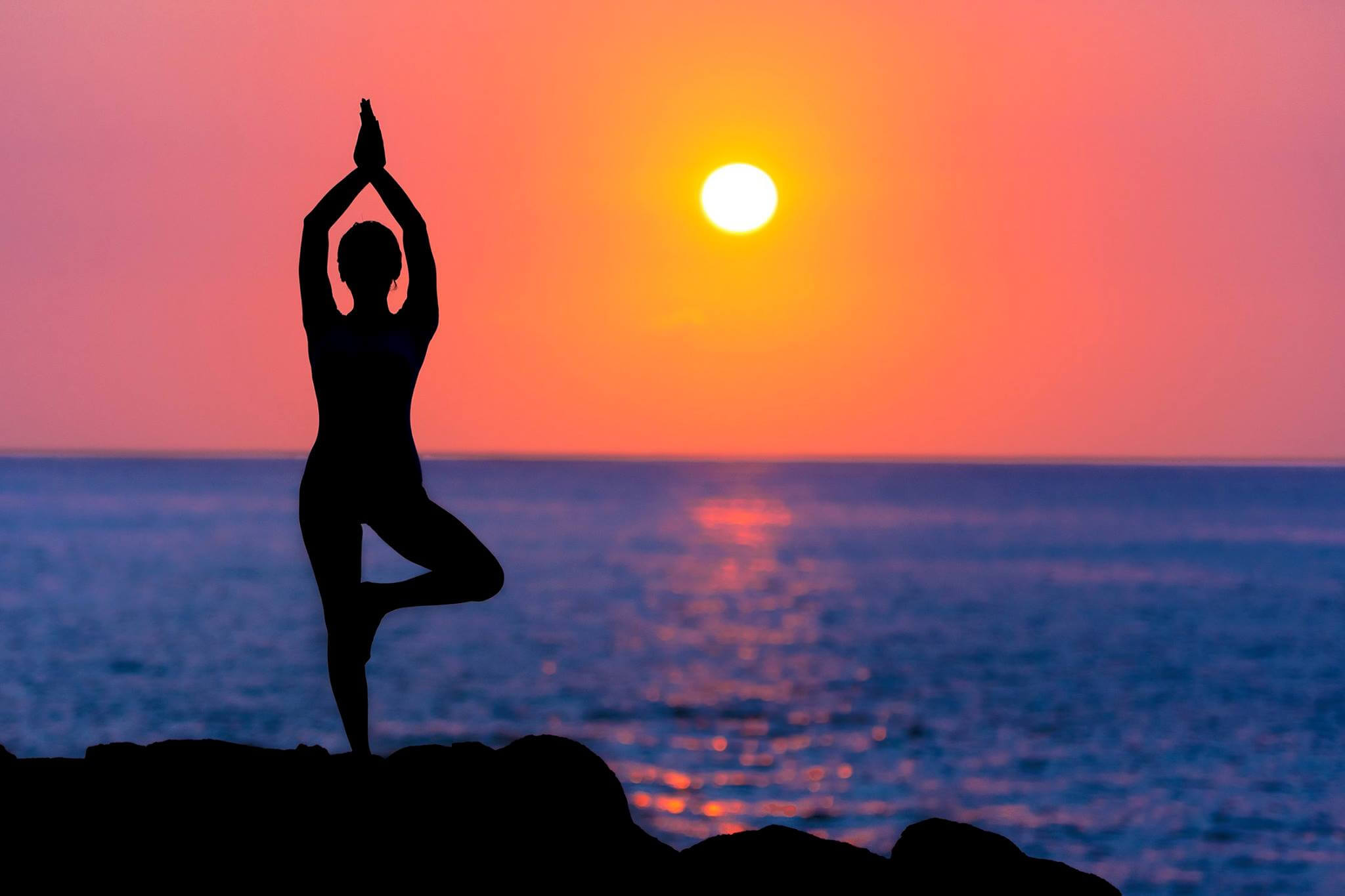 Canva Silhouette of Person Doing Yoga Near Body of Water Lets Ring In The New Year